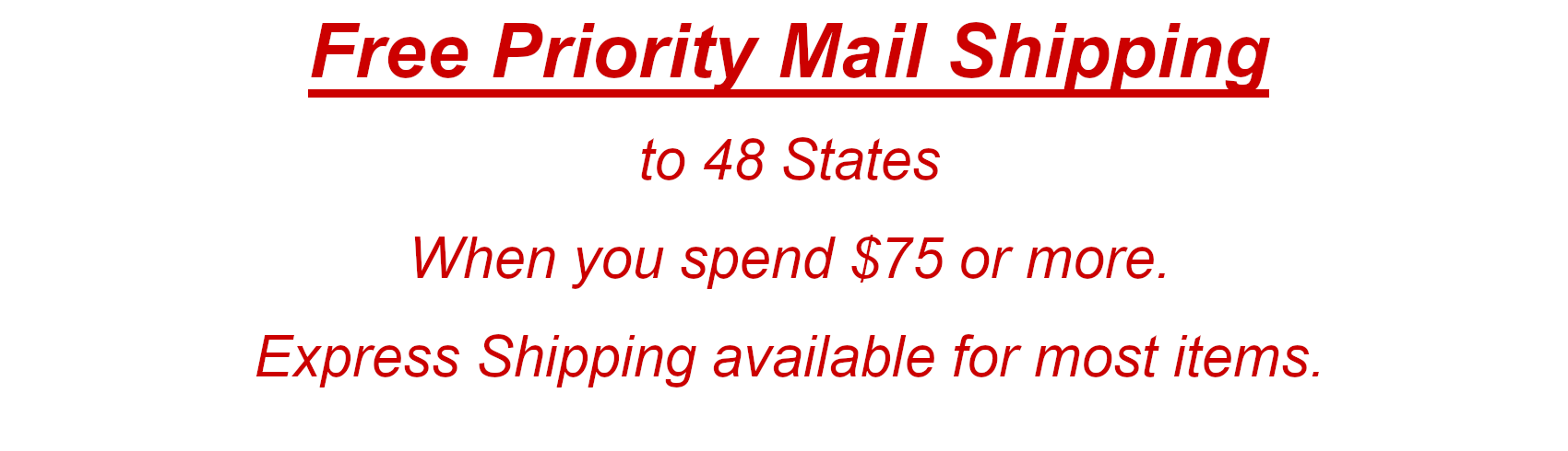 Free Priority Mail Shipping